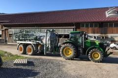 Tracteur John Deere 7230R avec citerne à lisier Joskin